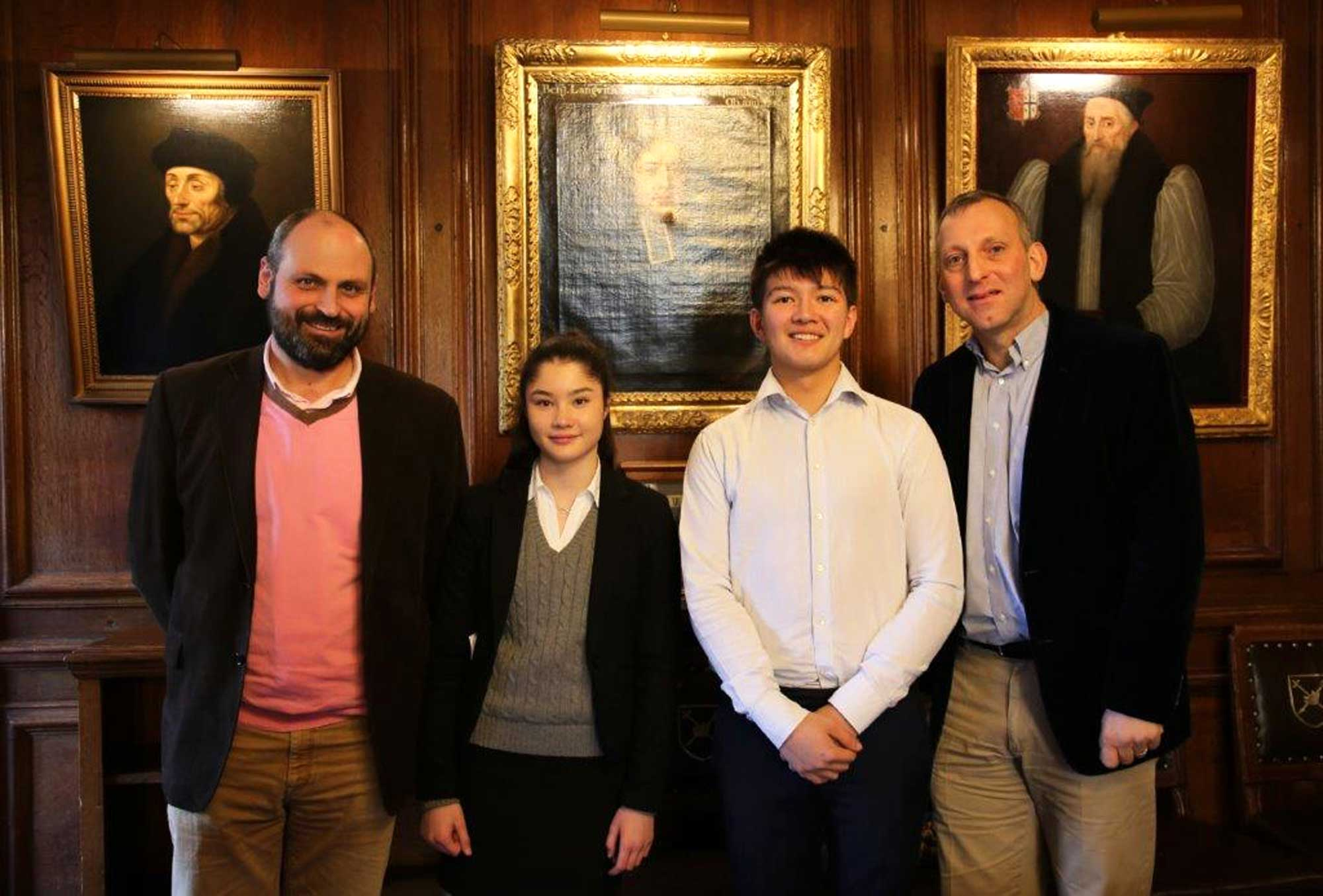 Were two of only 10 students nationwide to be shortlisted by the peter watson international scholarship to present their extended project qualification